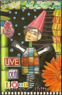black journal page by nayski (Renee Stien), via Flickr (search art journals)
