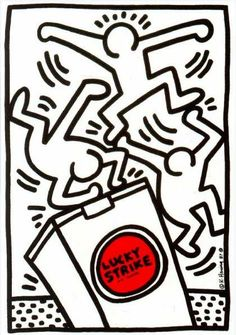 Bid now on Lucky Strike by Keith Haring. View a wide Variety of artworks by Keith Haring, now available for sale on artnet Auctions. K Haring, Jm Basquiat, Keith Haring Art, Keith Haring Prints, James Rosenquist, Tv Movie, Principles Of Art, Artwork Images, Reproduction