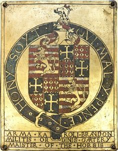 Knights of the Garter Under Henry VIII.  Sir Charles Brandon, later Viscount Lisle and Duke of Suffolk, c.1484-1545, Nominated 1513