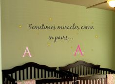 Baby TWINS Saying Quote AND Name Initial Stars by AllOnTheWall, $33.00 ~ Love the saying for my sis in law!