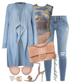 Untitled #1370 by fashionkill21 on Polyvore featuring polyvore fashion style Phase Eight Frame Denim Gianfranco Ferré Sophia Webster Allurez Karen Walker clothing