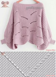 Scroll Pattern - Her Crochet Lace Knitting Patterns, Knitting Charts, Knitting Stitches, Knitting Designs, Hand Knitting, Crochet Bedspread Pattern, Crochet Cardigan Pattern, Knit Crochet, Hand Knitted Sweaters