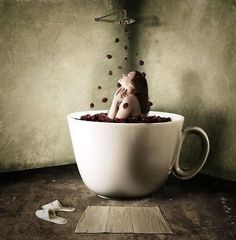 Can I take a bath in coffee? I'd smell like happiness all day