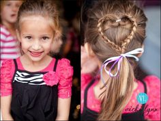 Cute little girl hair!