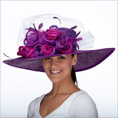 Derby Hat. I love the purple color! :)