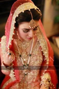 Pakistani Pink & Gold Wedding Sharara | Irfan Ahson Photography