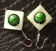 Gorgeous retro malachite earrings with green mother of pearl - tremendous bijou at Christmas! Everyone very welcome to bid:) See at my blog: http://www.greykajewellery.eu/malachite-earrings-with-mother-of-pearl/