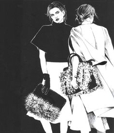 Fashion illustration, part 3. on Illustration Served