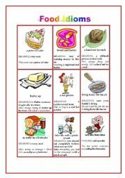 Worksheets Worksheet Idioms Food food idioms pinterest and iuniverse publishing presents related to part 2 in one of iuniverse