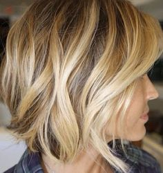 Cropped blonde Balayage hair