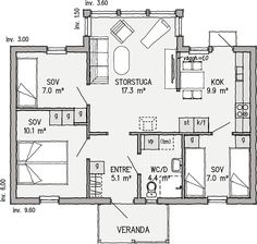 Small House Plans, Tiny House, Small Spaces, Building A House, Sims, Floor Plans, Cottage, Cabin, Flooring