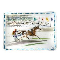 Gien Cavaliers Acrylic Serving Tray