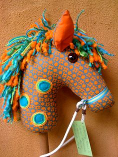 How To Make A Hobby Horse - A Complete Craft Kit with Instructional Disc with Colour Photos and Patterns by Chinky Monkey. $26.00, via Etsy.