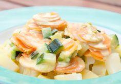 Du willst vegan kochen mit Kindern? Dann probier mein Kartoffel-Möhren-Zucchini-Allerlei aus. Mehr vegane Kindergerichte, die meine Kinder lieben - und Deine sicher auch - findest Du auf http://www.meinesvenja.de/2013/07/21/vegane-rezepte-fuer-kinder/. Alles alltagstauglich und schon ganz oft gekocht.
