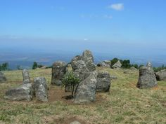 """This circular structure of stone ruins, known as """"Adam's calendar"""" is located on a mountain in Mpumalanga South Africa. The stone calendar is reportedly over 75,000 years old pre-dating the pyramids...."""