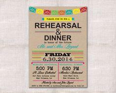 Fiesta Wedding Rehearsal Dinner invitation by DarlinBrandoPress, $18.00