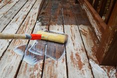 Young House Love | How To Strip and Clean A Deck For Stain | http://www.younghouselove.com