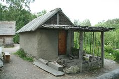 Reconstructed house at Birka