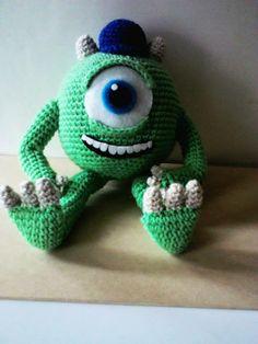 mike waswoski amigurumi crochet monster inc.  facebook.com/numitejidos
