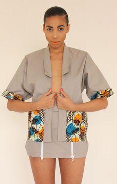 �Imoja� double sided 80s scape jacket: