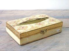 Gold Wood Italian Florentine Small Tissue Box by 22BayRoad on Etsy, $18.00
