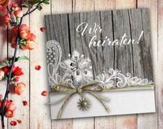 Einladungskarten zur Hochzeit - für dich individuell gefertigt im Format 14,8 x 14,8 cm  Maße Geschlossen: 148 x 148 mm Maße Offen: 296 x 148 mm