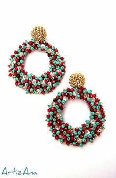 Happy hoops statement earrings