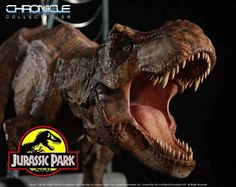 Pre-Order Chronicle Jurassic Park T-Rex Breakout Statue T Rex Tattoo, Jurassic Park T Rex, Amblin Entertainment, Beautiful Film, Classic Films, Lion Sculpture, The Incredibles, Statues, Models