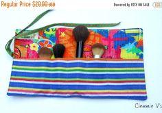ON SALE Teacher Appreciation Gift, Cosmetic Brush Roll/ Storage Roll/Craft Storage/Artist Brush Roll