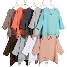 Layered Linen Tunic Top