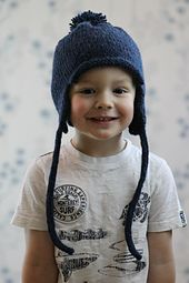 Ravelry: All in the Family Earflap Hat pattern by Gretchen Tracy