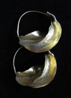 AFRICAN  JEWELRY TRIBAL | African Fulani Twisted-Hoop Earrings - Handcrafted Golden Brass Tribal ...