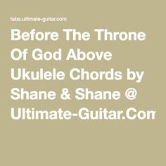 Before the throne of god above guitar chords