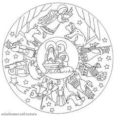 Nativity Mandala Coloring Pages Nativity Coloring Pages, Bible Coloring Pages, Mandala Coloring Pages, Christmas Coloring Pages, Animal Coloring Pages, Coloring Pages For Kids, Coloring Books, Christmas Crafts For Kids, Christmas Colors