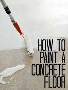How To Paint Concrete UPDATED!! (Plus Secret Cleaning Tip ...