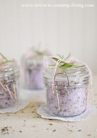 How to make lavender rosemary bath salts
