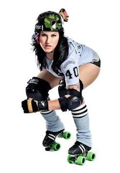 Roller Derby Girl Costume, awesome curvy girl Halloween idea!