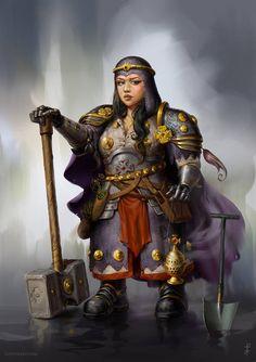 Dwarf Paladin, Dnd Paladin, Cleric, Dnd Characters, Fantasy Characters, Female Characters, Fantasy Dwarf, Fantasy Rpg, Fantasy Races