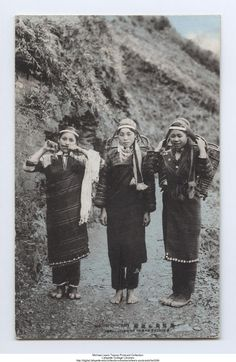 """Evolution of Geman savages"", Taiwan. One of the women is playing the Jew's harp."