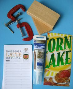 "make paper note pads with ""silicon sealant"""