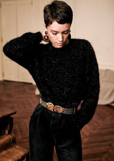 Sézane - Zephir Jumper Source by jemagidson Look Fashion, Winter Fashion, Fashion Outfits, Fashion Trends, Fashion Tips, Cut And Style, My Style, Tomboy Chic, Mode Inspiration