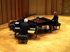 Roland Corporation‏@Roland_US    David Benoit and BrianCulbertson on dueling V-Piano Grands