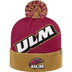 Top of the World Men's University of Louisiana at Monroe Blaster 2-Tone Knit Cap (Gold, Size One Size) - NCAA Licensed Product, NCAA Men's Caps at ...