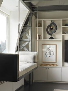 Diy industrial bench living room contemporary with upholstered bench white shelves display shelves