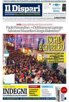 La copertina del 13 dicembre 2015 #ischia #ildispari