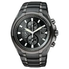 Mens Citizen Titanium Collection Black Dial Watch #citizen #watch