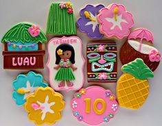Luau cookies by The Sugar Tree