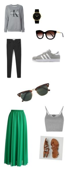 """""""Jose Summer outfits"""" by josephinavanleeuwen on Polyvore featuring MANGO, Calvin Klein Jeans, adidas Originals, Larsson & Jennings, Thierry Lasry, Topshop, Chicwish, Ray-Ban and American Eagle Outfitters"""