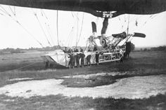 The gondola of the naval airship Parseval on the ground with a small group of navy handlers. © IWM (RAE-O 760) 1903