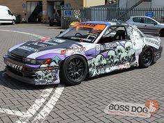 Vinyl Wrap Car, Nissan Silvia, Drifting Cars, Car Wrap, Jdm Cars, Kustom, Cool Cars, Boss, Japanese
